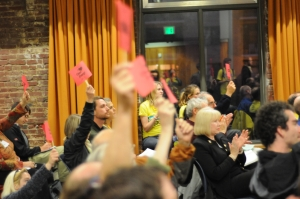 Crowd at Hearing by Bill Purcell