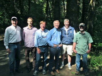 Governor Kitzhaber and members of the North Coast State Forest Coalition