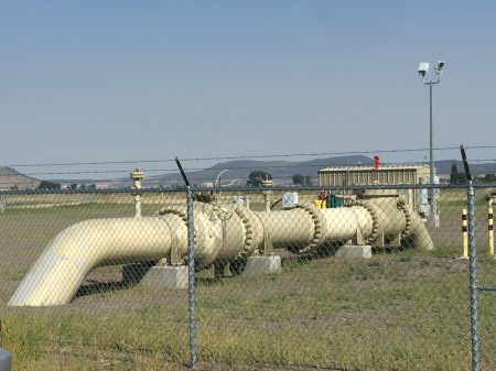 Part of the Ruby Pipeline natural gas compressor and transfer station, near Malin in Klamath County