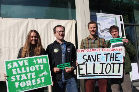 Sierra Club staff with allies from Cascadia Wildlands and Oregon Wild (photo by Josh Laughlin)