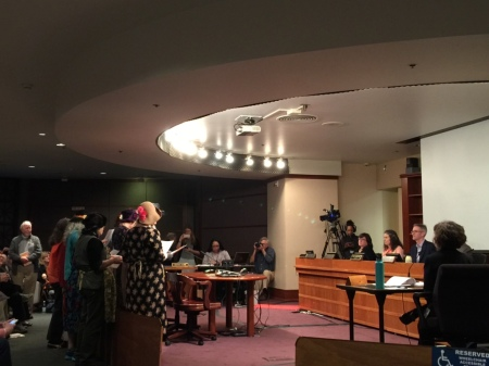 Raging Grannies singing testimony to Portland City Council